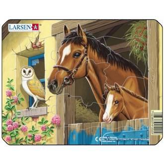 Larsen Puzzle Farm Animals Horse 7pc