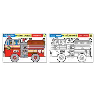 Melissa & Doug Fire Engine Colour A Mat