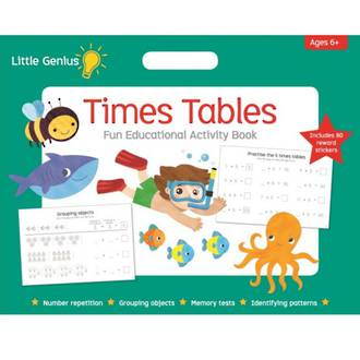 Little Genius Times Tables Educational Activity Book