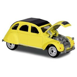 Majorette Vintage Cars Citroen 2CV Yellow