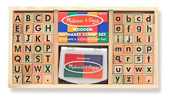Melissa & Doug Alphabet Wooden Stamps