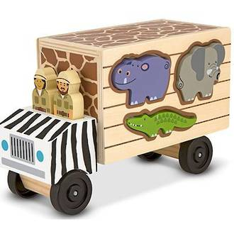 Melissa & Doug Animal Rescue Shape Sorting Truck Wooden Toy