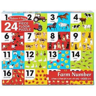 Melissa & Doug Farm Number Floor Puzzle (24pc)