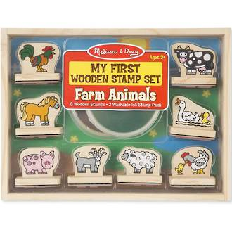 Melissa & Doug My First Wooden Stamp Set Farm Animals