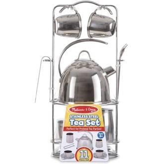 Melissa & Doug Stainless Steel Tea Set