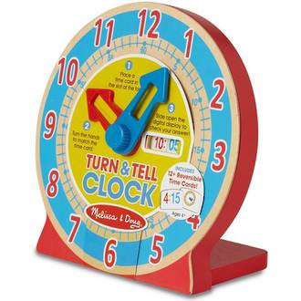 Melissa & Doug Turn & Tell Wooden Play Clock