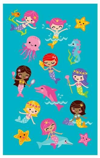 Peaceful Kingdom Stickers Mermaids