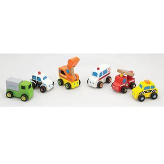 Viga Mini Vehicles Set 6pcs