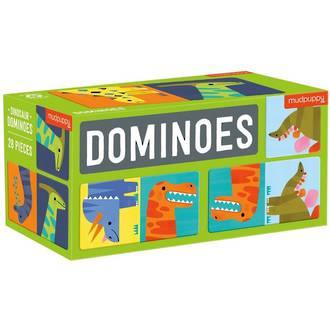 Mudpuppy Dominoes Dinosaur