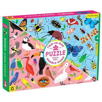 Mudpuppy Double-Sided Puzzle Bugs & Birds (100pc)