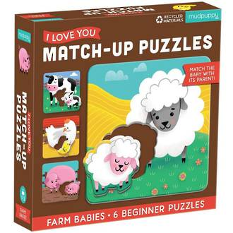 Mudpuppy Match-Up Puzzles Farm Babies