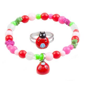 My Fair Lady Bug Bracelet and Ring Set