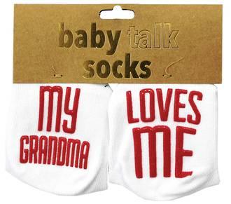 Baby Talk Socks - My Grandma Loves Me