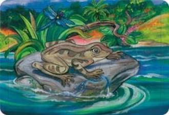 Native Frog Tray Puzzle