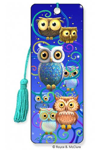 3D Bookmark - Night Owls
