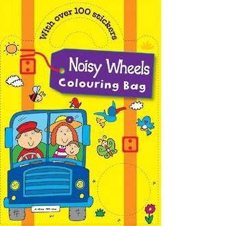 Noisy Wheels Colouring Bag