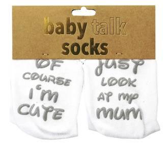 Baby Talk Socks - Of Course I'm Cute