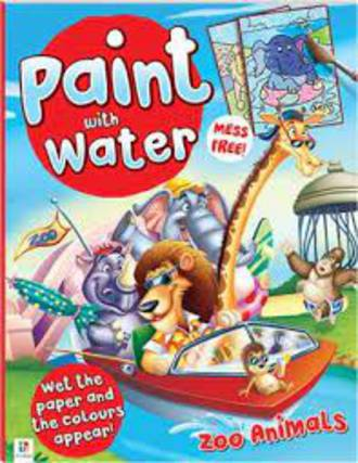 Paint With Water Zoo Animals