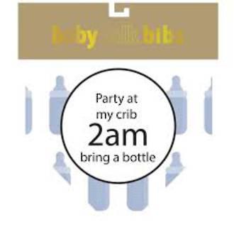 Baby Talk Bibs - Party At My Crib