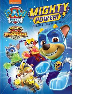 Paw Patrol Mighty Pups Deluxe Colouring