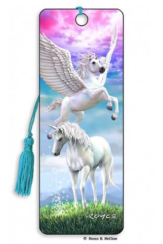 3D Bookmark - Pegasus & Unicorn