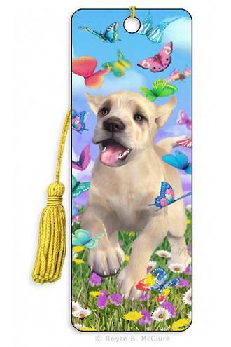 3D Bookmark - Playful Puppy