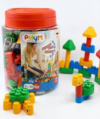 PolyM Building Blocks Hero Set 128pcs