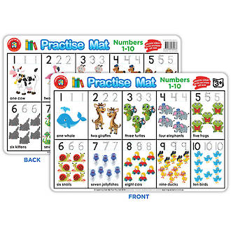 Practise Mat Numbers 1-10