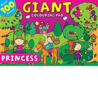 Princess Giant Colouring Pad