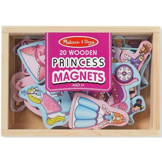 Melissa & Doug 20pc Wooden Princess Magnets