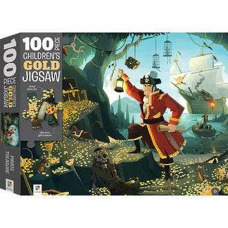 Puzzle Children's Gold Jigsaw Pirate Treasure