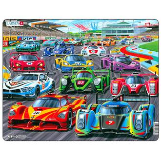 Larsen Maxi Puzzle Racing Cars (38pc)