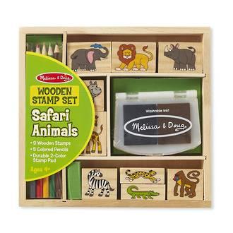 Melissa & Doug Safari Animals Wooden Stamps