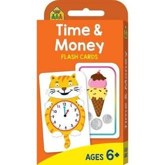 School Zone Flash Card, Time & Money