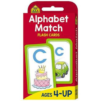 School Zone Flash Cards, Alphabet Match
