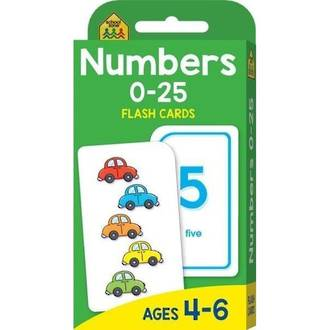 School Zone Flash Cards, Numbers 0-25
