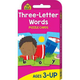 School Zone Flash Cards, Three Letter Words