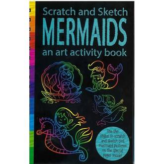 Scratch and Sketch Mermaids Activity Book