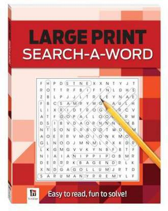 Search-A-Word 2 (Red) Large Print Puzzles Series 4