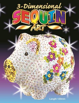 Sequin Craft 3D Kit Pig