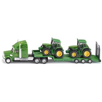 Siku 1837 Low Loader with John Deere Tractors
