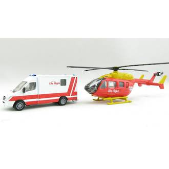 Siku 1850NZ Life Flight Westpac Rescue Helicopter & Ambulance Set