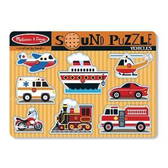 Melissa & Doug Sound Puzzle Vehicles