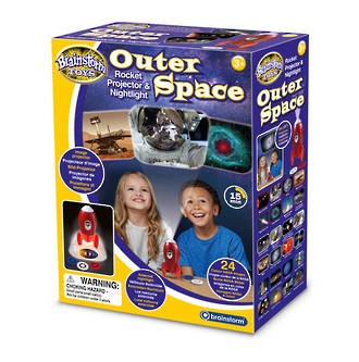 Outer Space Rocket Projector & Night Light