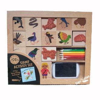 Tane and Ruby's NZ Tiki Tour Stamp Kit