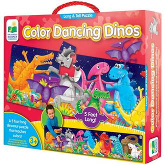 The Learning Journey Long & Tall Puzzle - Colour Dancing Dinos