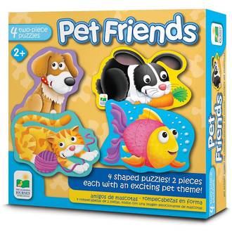 The Learning Journey My First Shaped Puzzle - Pet Friends