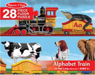 Melissa & Doug Floor Puzzle Alphabet Train