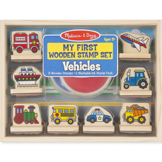 Melissa & Doug My First Wooden Stamp Set Vehicles