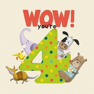 WOW! You're Four birthday book